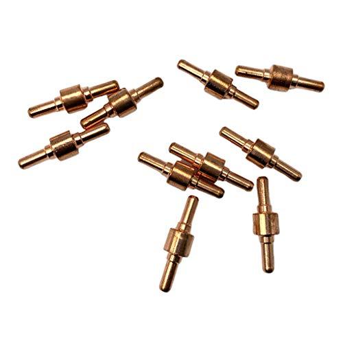 SDENSHI 10Pcs Plasmaschneider Verbrauchsmaterialen Elektrode Kupferdüse für Schneidbrenner - Normal, 30 mm