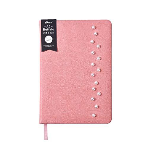 XINGYUE Bloc de notas de viaje, cuaderno de cuero A5, cuaderno de negocios, agenda de papel, con forro