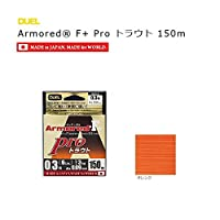DUEL(デュエル) PEライン 0.1号 アーマード F+ Pro トラウト 150M 0.1号 オレンジ トラウト・管釣 H4112