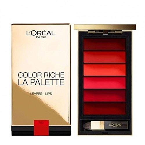 L'Oréal Paris Lippen Make-up Color Riche La Palette Lip red / Lippenstift Palette mit 6...