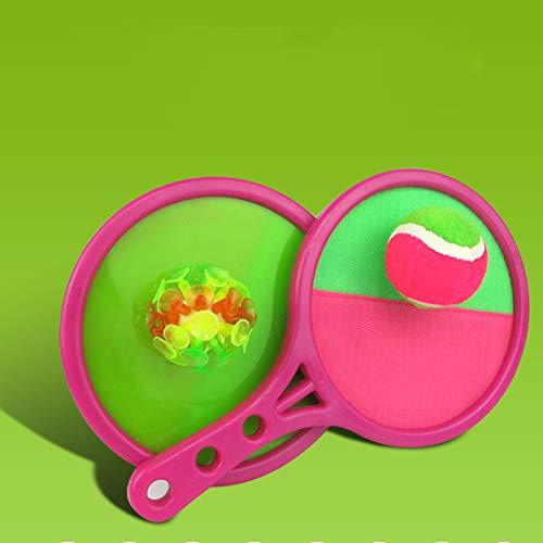 Toss En Vangen Balls Game Dual Side Toss Catch Disc Paddles Sports Ball Ouder-Kind Interactief Spel Voor Volwassenen Kids,Pink
