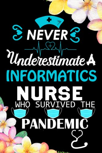 Never Underestimate A informatics Nurse Who Survived The Pandemic: Nurse Notebook Gift For informati