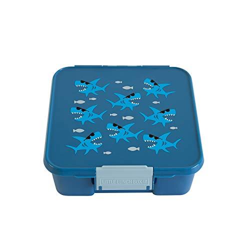 Little Lunch Box Co., Brotdose für Kinder mit Unterteilungen | Bento Box (Bento 5 Shark)
