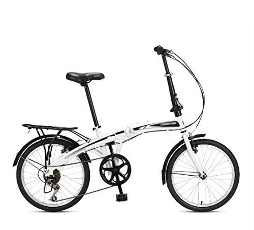 Plegable for bicicleta, Adulto Light Estudiante portátil de pequeño tamaño y de los hombres de la bici de la mujer, de 20 pulgadas de 7 velocidades de velocidad variable de servicios públicos urbanos