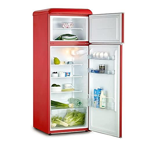 frigorifero rosso vintage Severin KS 9955 frigorifero con congelatore Libera installazione Rosso 212 L A++