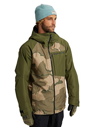 Burton Mens Gore-Tex Radial Jacket, Barren Camo/Keef, Large