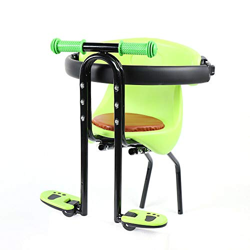 Bike Bicycle Baby Front Seat Safety Child Kids Chair Seat W/Handrail 30kg Green