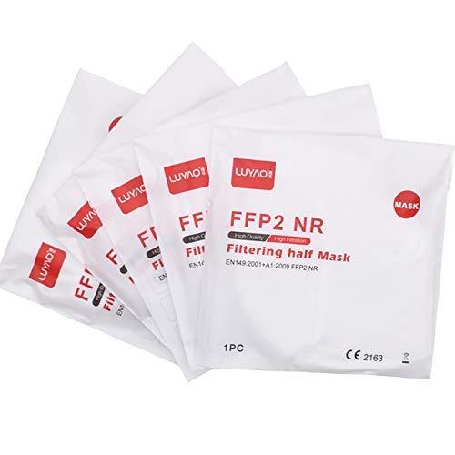 Luyao Atemschutzmasken FFP2, CE-zertifiziert, ohne Schutzventil, atmungsaktiv, 20 Stück - 2