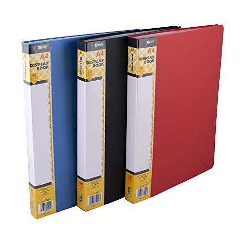 D.RECT Carpeta de fundas, A4, 30 fundas PP Carpetas, Capacidad para 60 hojas, Sólida Polipropileno Carpeta para archivo, 20157