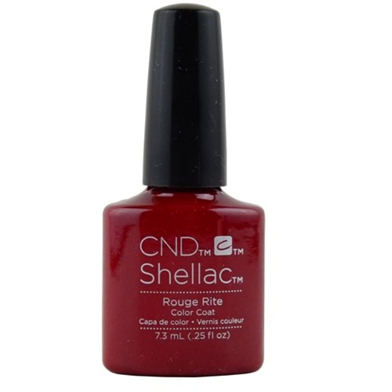 不幸明確な手荷物CND Shellac Gel Polish - Rouge Rite - 0.25oz / 7.3ml
