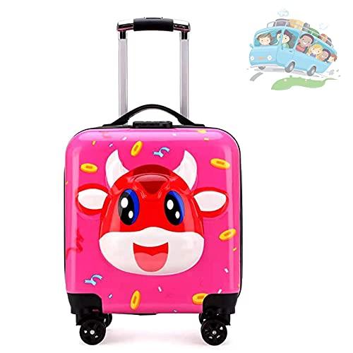 QIXIAOCYB Maleta universal para niños y niñas, con 3 dígitos, ideal para descansos cortos, vacaciones, fiestas de pijamas y viajes escolares, color azul