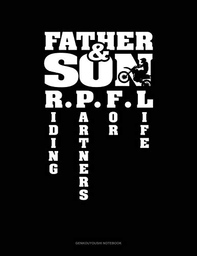 Father & Son Riding Partners For Life: Genkouyoushi Notebook