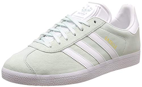 Adidas Damen Gazelle Sneakers - Grau (Ice Mint/White/Gold Metallic) , 38 2/3 EU