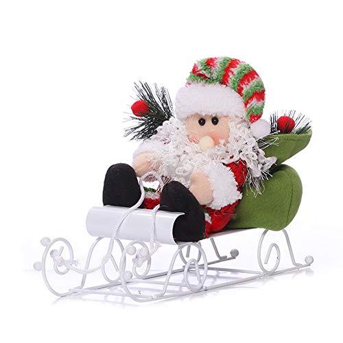 Ruikey Adornos de Mesa de Navidad DIY Navidad Adornos Decoraciones Regalo para el Hogar Mesa de Comedor Decoracion de Oficina 34×23×9.5CM