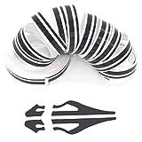 ZATOOTO Black Pinstripe Tape for Car - DIY Vinyl Pin Striping Decals Auto Waterproof Pin Stripe Tape Emblems Trim Universal for Automobile Musical Instrument Home Door etc