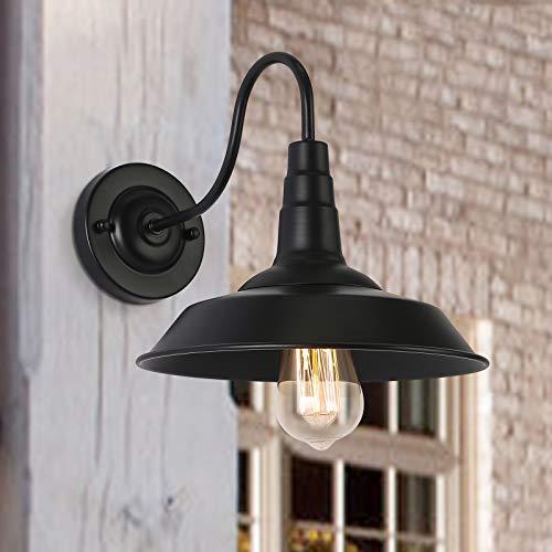 Lámparas de pared de granero para exteriores retro apliques de pared industrial interior vintage en negro para dormitorio sala de estar cocina jardín