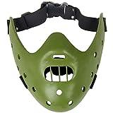 ZYCH Regalo El Silencio de los Corderos Máscaras Hannibal Lecter de Resina de la Mascarada de Halloween Party Props la Media Cosplay (Color : Green)