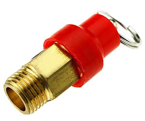 Válvula de seguridad BSP de 0,63 cm y 8,8 bar para compresor de aire