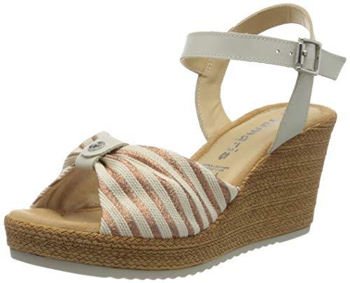 Tamaris 1-1-28341-24 448 dames open sandalen met sleehak