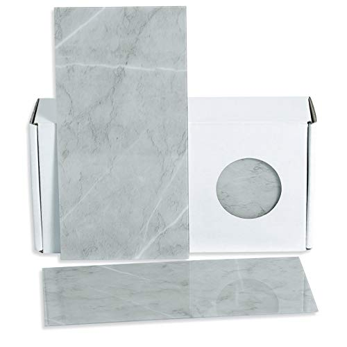 BeNice Wandfliesen Selbstklebend Küche,Ubahn Fliesen Selbstklebend Bad Marmoroptik Fliesen Selbstklebend Wasserdicht Hitzebeständig(98x198mmx23Stück) Grau aus Zement