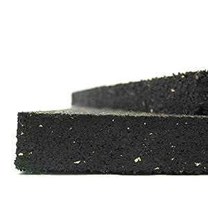 Rubber-Cal 03_109_W_23 Shark Tooth Heavy Duty Mat, Black, 3/4-Inch x 2 x 3-Feet