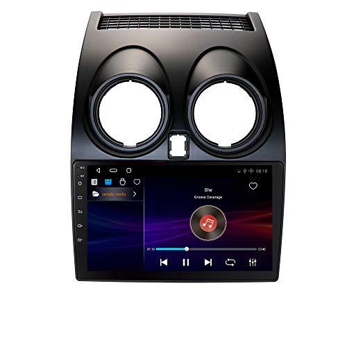 Android 10 Autoradio Stereo Doppia navigazione GPS Supporta Bluetooth Mirror-link WiFi Adatto per Nissan Qashqai (2006-2013)
