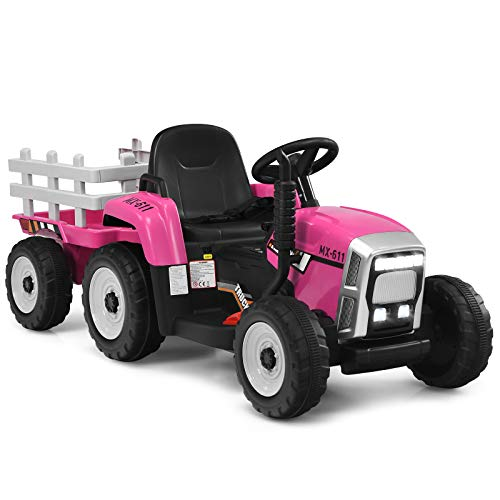 COSTWAY 12V 3-Gang Traktor mit...