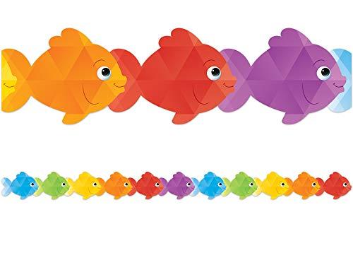Teacher Created Resources Colorful Fish Die-Cut Border Trim