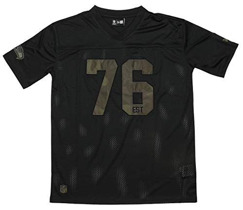New Era Seattle Seahawks T-Shirt - NFL Camo Jersey Est. Date - Black - XXL