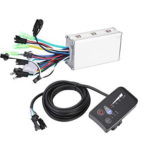 SALUTUYA Controlador de Motor Pantalla LED Impermeable Fácil instalación Materiales Adecuado para Bicicletas eléctricas, automóviles, Scooters(48V 250W/350W)