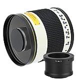 143 Lente de teleobjetivo de 500 mm f/6.3 para Fuji/Canon/Sony/Olympus/Panosonic, con Adaptador de Montura en T(T2-M4 / 3)