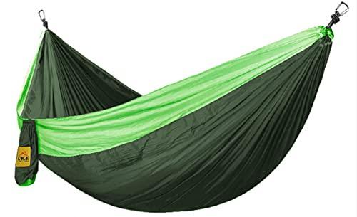 Hammock Esterno Singola Sedia A Dondolo Portatile A Doppia Mano 2,8 m 1,8 m Verde + Verde