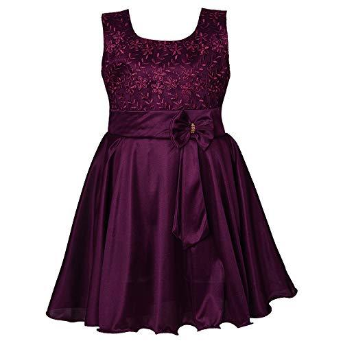 Wish Karo Girls Frock Dress (fe2644_Wine_5-6 Yrs)