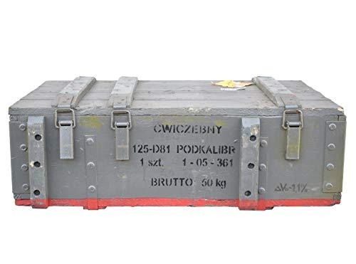 Obstkisten-online Großzügige Munitionskiste aus Holz im Military Style, 82x51x29cm - Militär Truhe Offizierskoffer Aufbewahrungskiste Munitionsbox Militaria - 2