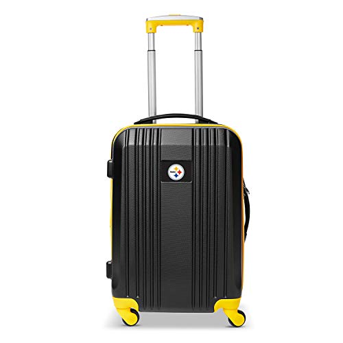 Great Deal! Denco NFL Pittsburgh Steelers Round-Tripper Two-Tone Hardcase Luggage Spinner