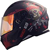 Broken Head Jack S. - Integral-Helm rot - Sport-Motorrad-Helm incl. Pinlock und gratis rot...