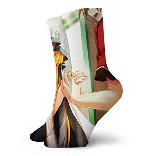 Rincvo Anime High School DXD Argento Asia Calcetines de algodón con cojín para Hombre