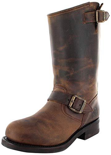 Sendra Boots 9852 Tang Engineerstiefel mit Stahlkappe und Thinsulate Isolierung für Damen und Herren Braun, Groesse:41