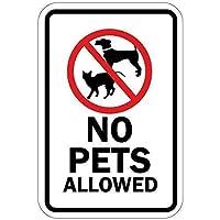 シンボル付きのペットはご遠慮ください。金属スズサイン通知街路交通危険警告耐久性、防水性、防錆性