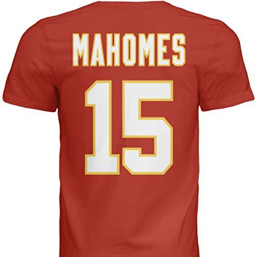NWT New Mahomes #15 Kansas City Red Custom Screen Printed Football T-Shirt Jersey No Brands/Logos Men's (Extra Large)