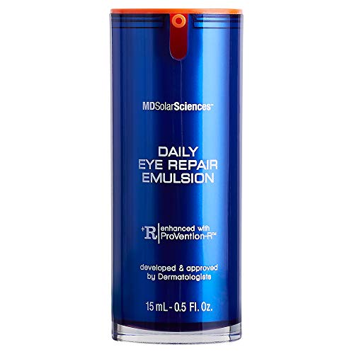 MDSolarSciences Daily Eye Repair Emulsion - Collagen Peptides and Antioxidants Help Repair, Soothe, and Restore Skin's Firmness & Elasticity - 0.5 Fl. Oz.