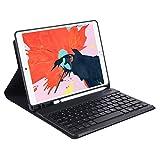 HHF Pad Accesorios para iPad Pro 12 9 12.9, TPU Lápiz Slot Split Bluetooth Teclado Tablet Funda de Tableta de Cuero PU Cubierta de Soporte para iPad Pro 12 9 12.9 2020 2018 3er 4to