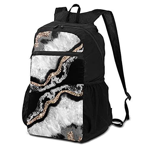 Mochila escolar Paquete de almacenamiento para computadora portátil Mochila Yin yang ágata brillo glam gem decoración arte casual mochilas de negocios bolsa de viaje senderismo mochila escuela escuela