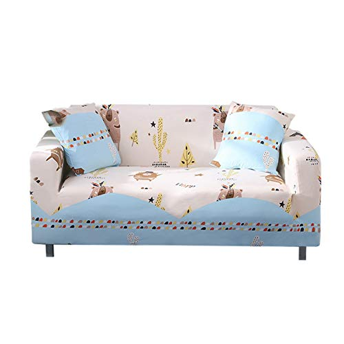 Yunchengyunxiangtong Stretch Couch Cover All-Inclusive-Sofa-Abdeckung Universal Universal Stoff Sofa Handtuch Kombination Einzel DREI-Personen-Cartoon Stretch faules Sofa (Size : Triple)