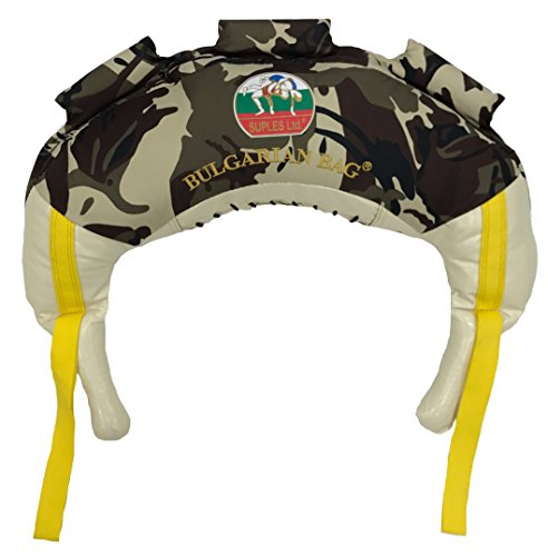Bulgarian Bag Suples Camouflage Canvas (XSmall, 11 lbs) Free Instructional Video Link Included! Fitness, Crossfit, Wrestling, Judo, Grappling, Functional Training, MMA, Sandbag, Powerbag, Cardio (11)