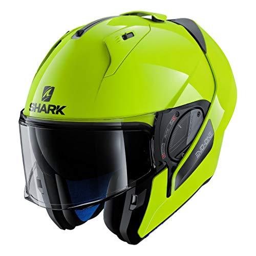 SHARK HE9716DYKYM Unisex-Adult Flip-Up Helmet (Neon Yellow, M - 57-58 cm - 22.4-22.8'')