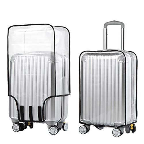 Haokey Clear PVC Suitcase Cover Protectors, Waterproof Luggage Protector Trolley Case Cover Dustproof Scratchproof Luggage Cover for Wheeled Suitcase(20 Inch)