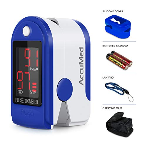 AccuMed CMS-50DL Fingertip Pulse Oximeter Blood Oxygen SpO2 Sports and Aviation...