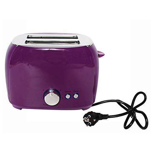 YHSFC Elektrischer Toaster Automatische Brotbackmaschine Toast Sandwich Grill Ofen Maker 2 Scheiben Haushalt zum Frühstück,Lila