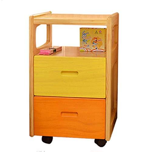 FTFTO Tägliche Ausstattung Nachttische Mini Kinder Nachttisch Beistelltisch Schlafzimmer Nachttisch Beistelltisch Beistelltisch mit 2 Schubladen für Schlafzimmer/Wohnzimmer/Arbeitszimmer Nachttisch